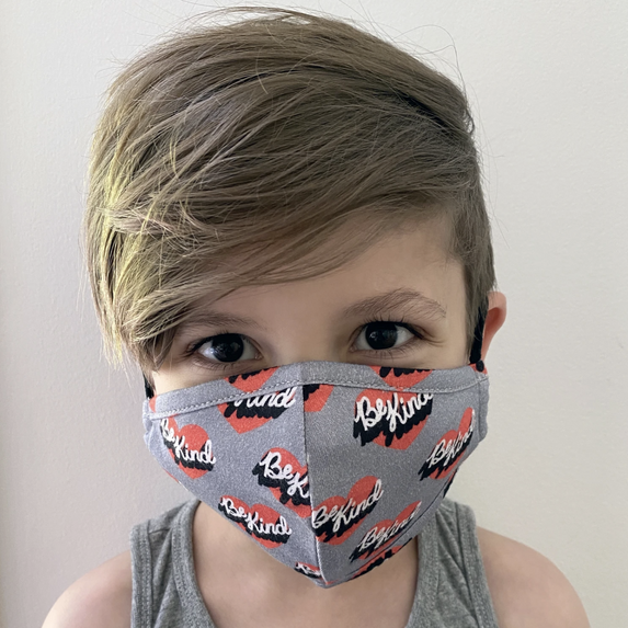 Whistle and Flute Be Kind Face Mask on Design Lfie Kids