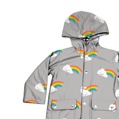 Whistle and Flute Rainbow Raincoat on Design Life Kids