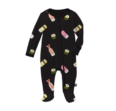 Whistle and Flute Kawaii Sushi Footed Pajama Sleeper on Design Life Kids