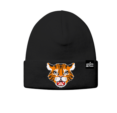 Whistle and Flute Tiger Beanie on Design Life Kids