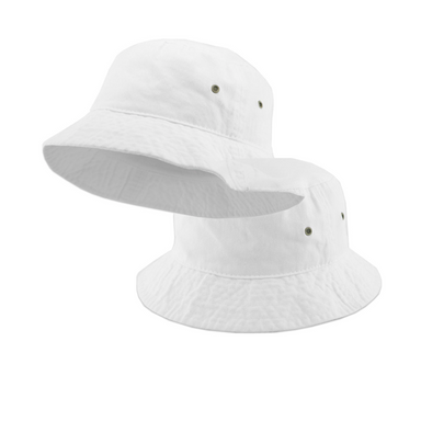 White Bucket Hats on Design Life Kids