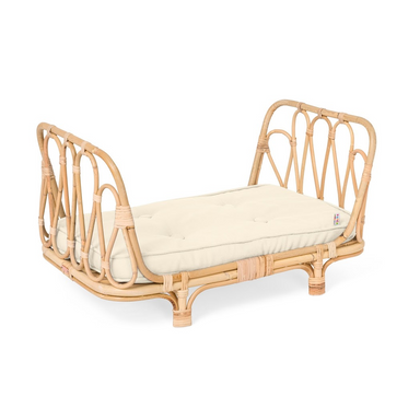 White Poppie Rattan Doll Bed on Design Life Kids