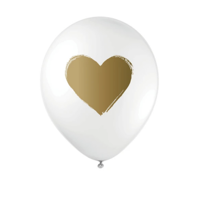 Inklings Paperie Biodegradable Metallic Heart Balloons on Design Life Kids