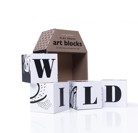 Wee Gallery Play House Art Blocks on DLK