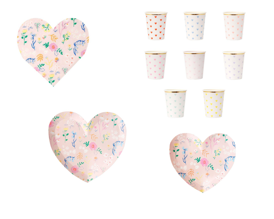 Wildflower Heart Paper Napkins