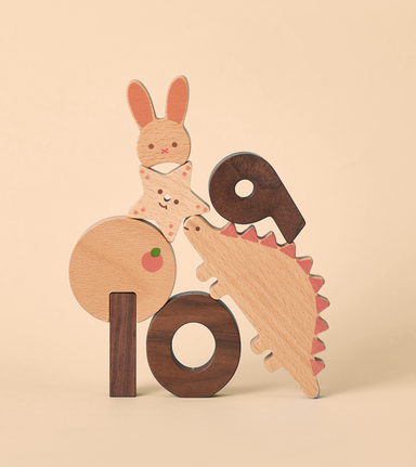 Oioiooi Numbers Play Blocks on Design LIfe Kids