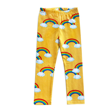 Romey Loves Lulu Rainbow Leggings on Design Life Kids