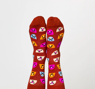 Yellow Owl Workshop Mixed Emotions Socks on Design Life Kids