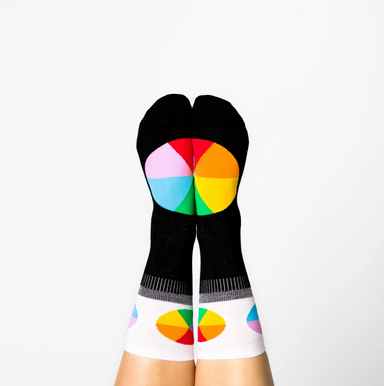 Yellow Owl Workshop Color Wheel Crew Socks on Design Life Kids