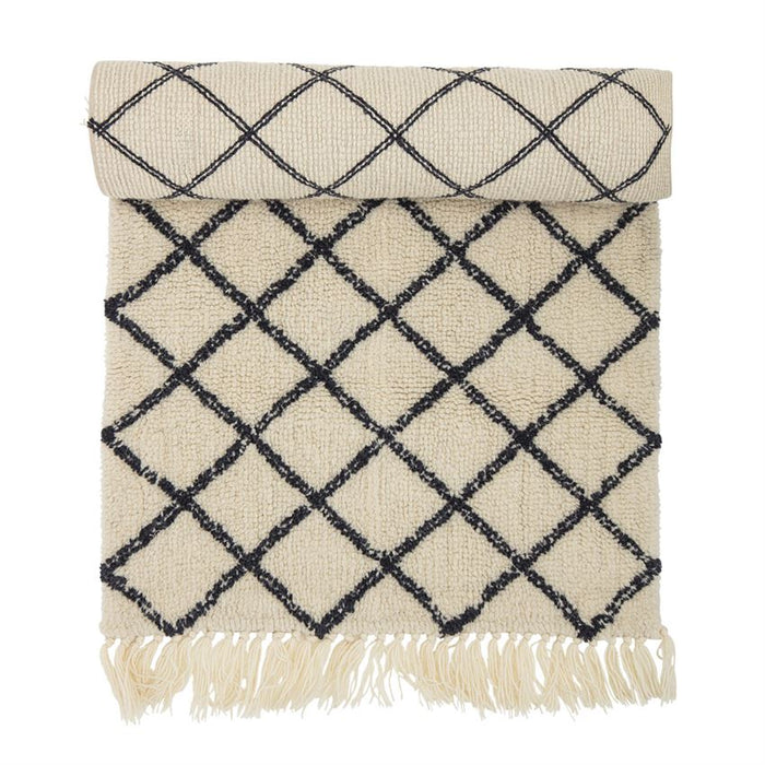 Bloomingville Diamond Pattern Rug on DLK | designlifekids.com