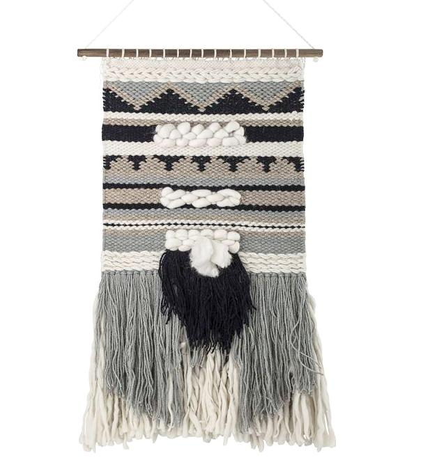 Bloomingville Monochrome Wool Wall Hanging on DLK | designlifekids.com