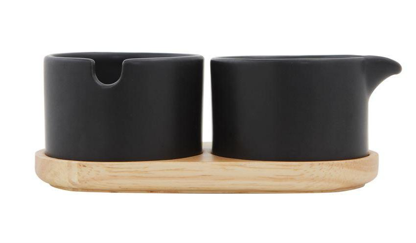 Bloomingville Matte Black Cream and Sugar Set on DLK | designlifekids.com