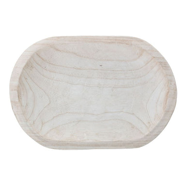 Bloomingville Paulownia Hand Carved Wooden Bowl on Design Life Kids