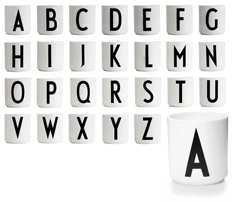 Arne Jacobsen Design Letters Bone China Cup on DLK