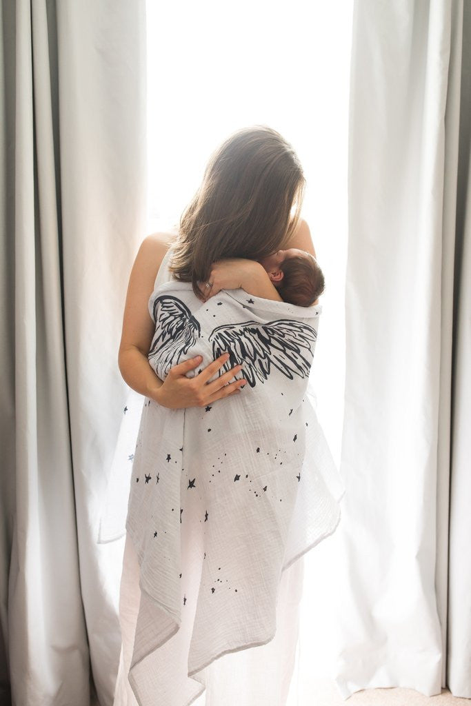 Baby Jives Luxe Organic Cotton Swaddle Blanket on DLK