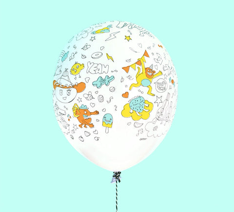 DIY COLORING PARTY BALLOONS