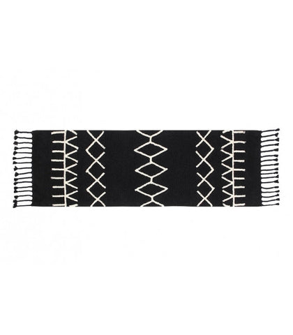 Lorena Canals BLACK BEREBER RUG ON DLK