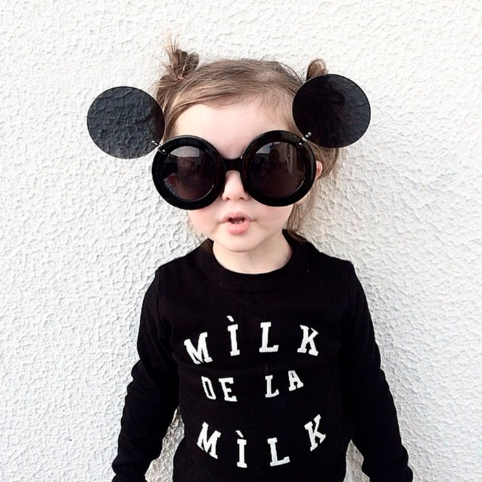 Milk Made Clothing MILK DE LA MILK LONG SLEEVE TEE ON DLK