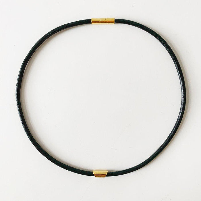 Modern Black Leather and Gold Choker by Sofia Ramsey on Design Life Kids