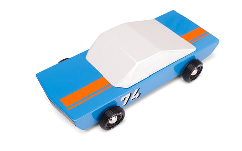 Candylab Blu74 Wooden Toy Car on DLK
