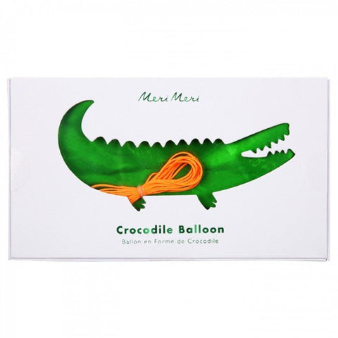 Meri Meri Crocodile Mylar Balloon on DLK | designlifekids.com