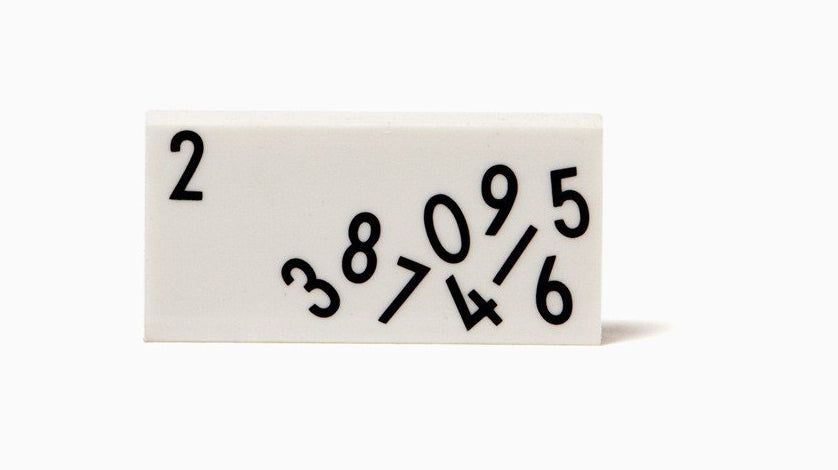 Design Letters Arne Jacobsen Eraser Set on DLK