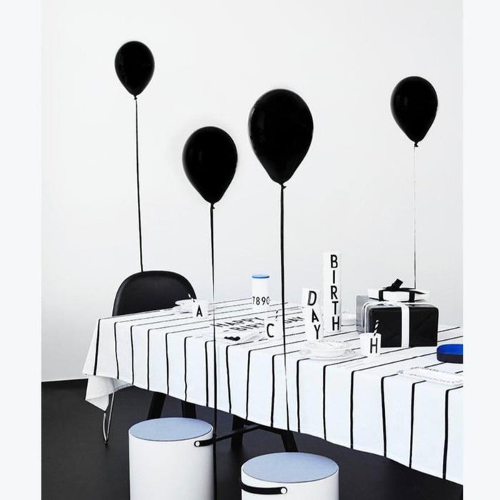 Arne Jacobsen Design Letters Happy Birthday Tablecloth on DLK
