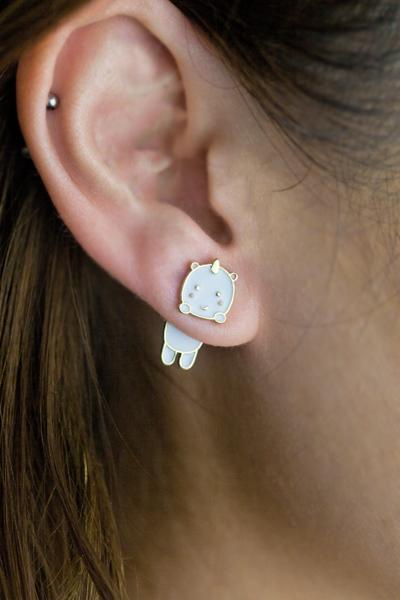 Elodie the Unicorn Earrings