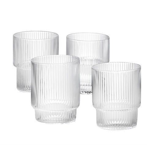 Ferm Living Ripple Glass Set on DLK | designlifekids.com