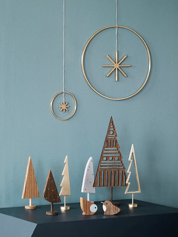 Ferm Living Winterland Brass Star on DLK | designlifekids.com