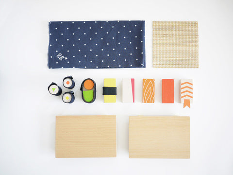 Kukkia Wooden Toy Sushi Play Set on DLK