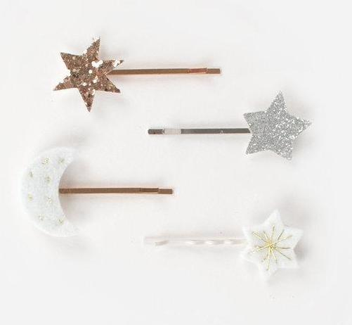 Meri Meri Moon & Stars Hair Slides on DLK | designlifekids.com