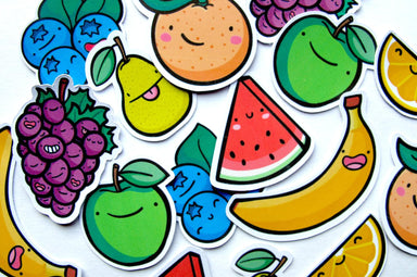 Emily McGaughey Fruit Stickers on Design Life Kids