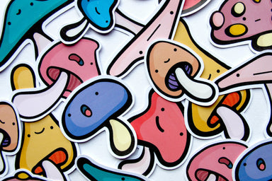Emily McGaughey Mushroom Stickers on Design Life Kids