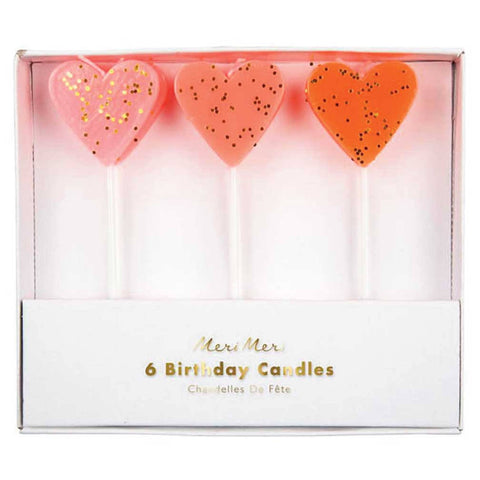 Meri Meri Heart Candles on DLK | designlifekids.com