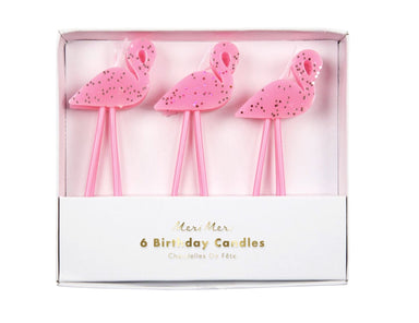 Meri Meri Flamingo Candles on DLK | designlifekids.com