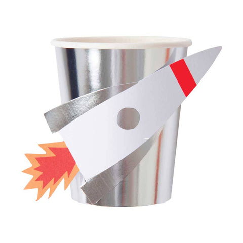 Meri Meri Space Rocket Party cups on DLK | designlifekids.com
