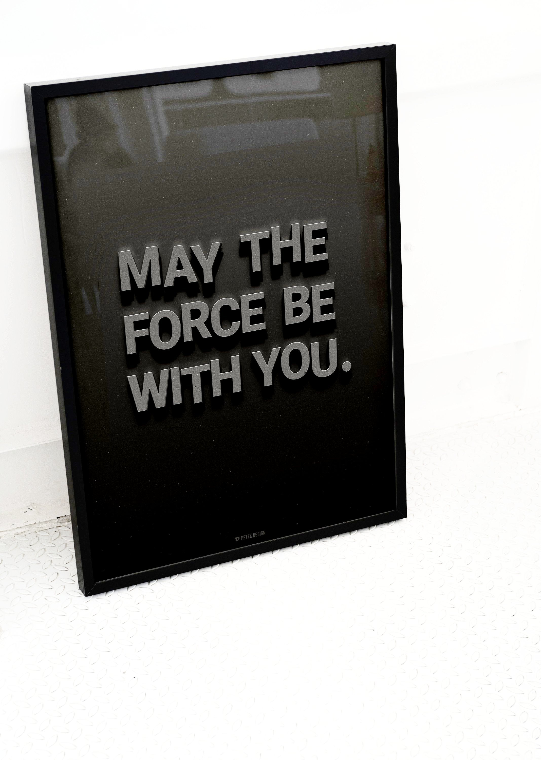 Petek Design Star Wars May the Force Be With You Poster on DLK | designlifekids.com