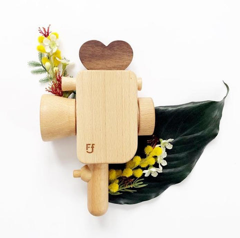 Father's Factory Super 8 Wooden Toy Video Camera on DLK | designlifekids.com