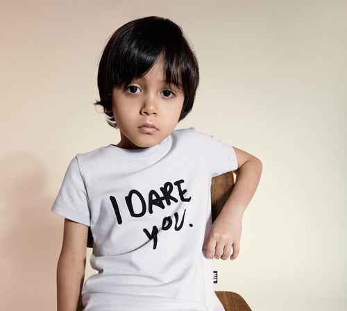 Little Man Happy I Dare Your Longline Shirt on DLK | designlifekids.com