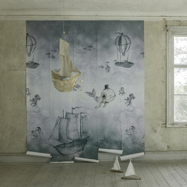 Mrs. Mighetto and Jimmy Cricket Ocean Stories Wallpaper Mural on Design Life Kids