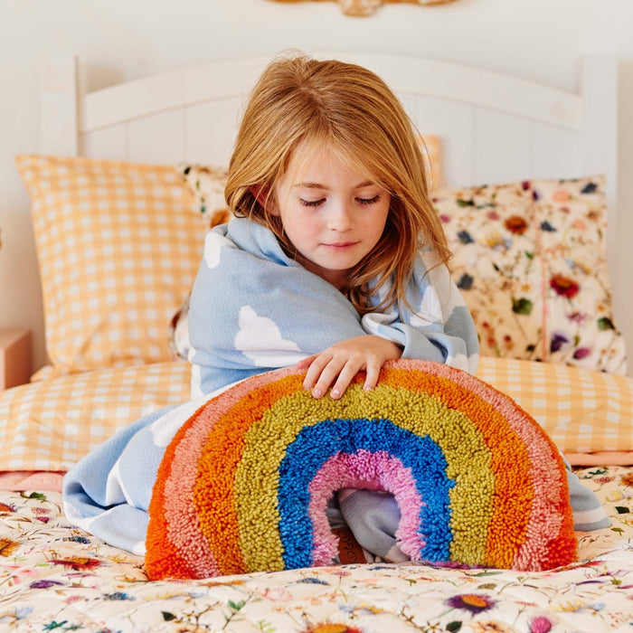 Kip&Co Rainbow Shag Pillow Cushion on DLK | designlifekids.com