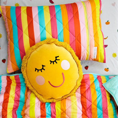Kip & Co and Studio DIY Sun Ray Velvet Cushion Pillow on DLK | designlifekids.com