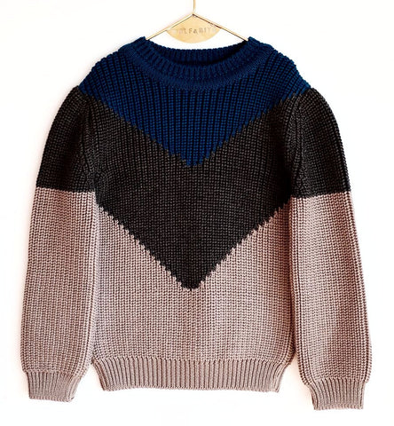 Wolf & Rita Leandro Blue Knit Sweater on DLK | designlifekids.com