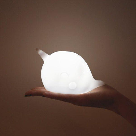 "Is any room REALLY complete without a cheerful mini ""sea Unicorn"" ambient light? Surely not. Nari Narwhal makes the perfect nightlight for your sleepy seascape. An extra bonus? Nari automatically goes night night after one hour with our new auto-shut off feature!"