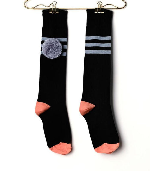 Blue Striped Long Socks