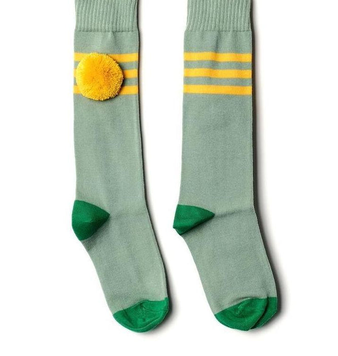 Yellow Striped Long Socks