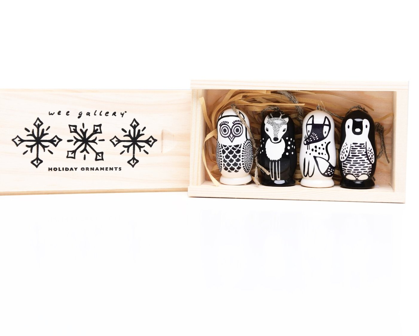 Wee Gallery Wooden Animal Ornaments on DLK | designlifekids.com