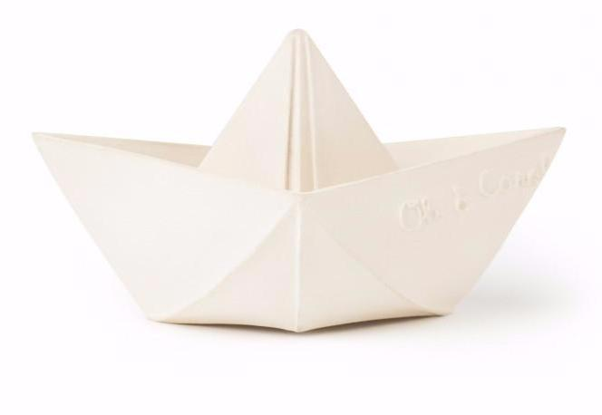Oil & Carol Origami Boat Bath Toys and Teethers on DLK | designlifekids.com