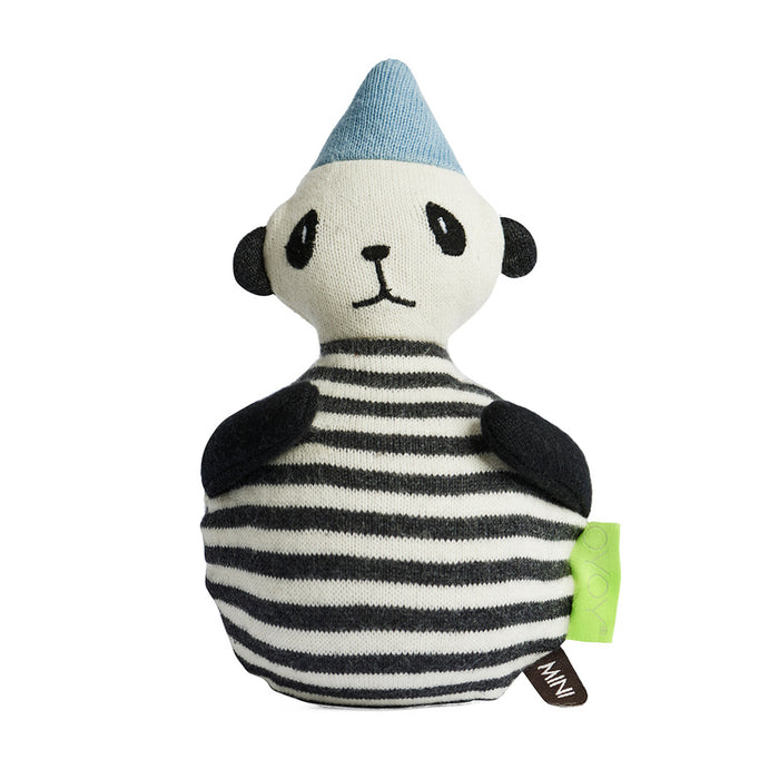OYOY Roly Poly Panda Rattle Doll on DLK | designlifekids.com